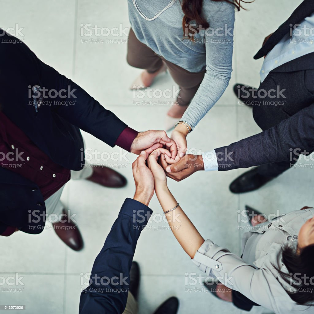 Empowered people empower each other stock photo
