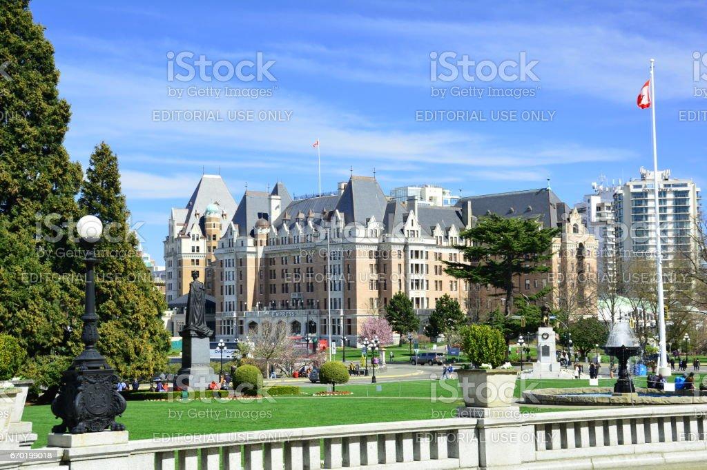 Empress Hotel in Victoria BC, Canada stock photo