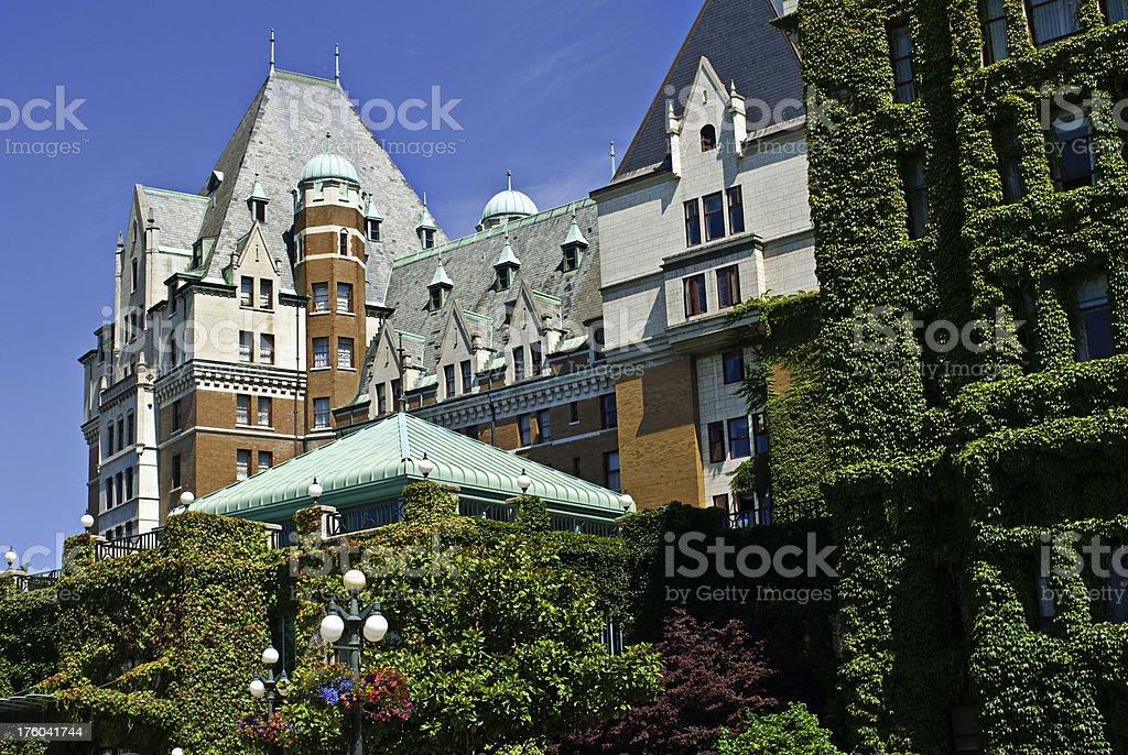 Empress hotel in Victoria, British Columbia stock photo