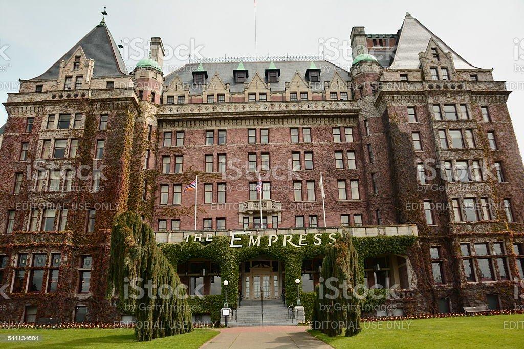 Empress Hotel in Victoria stock photo