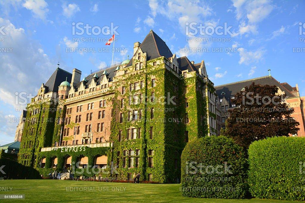 Empress Hotel Victoria BC stock photo