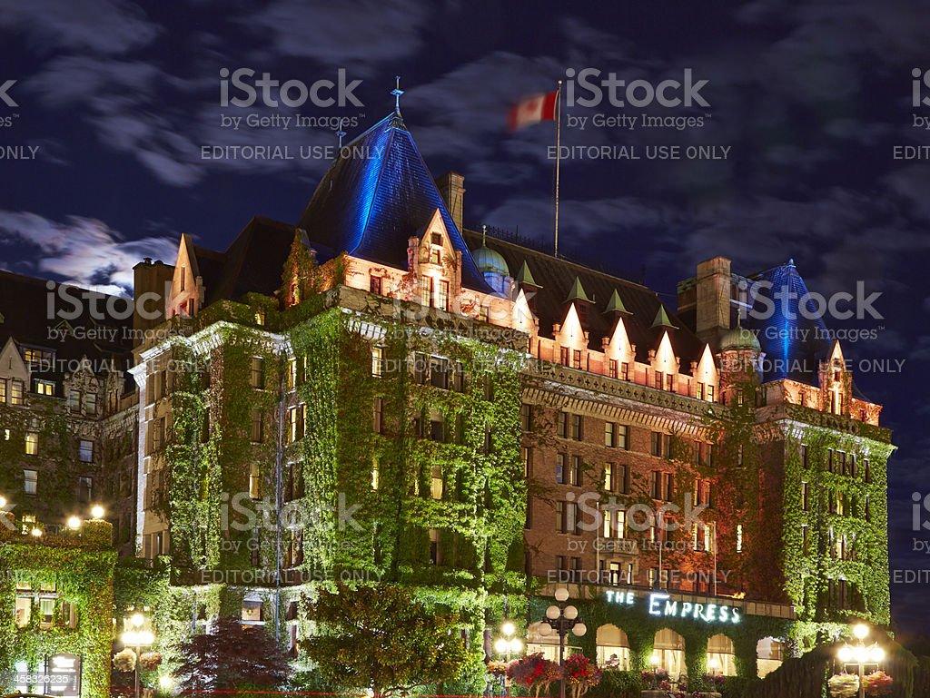 Empress Hotel, Victoria, British Columbia, Canada stock photo