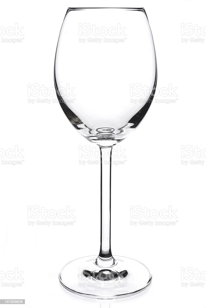 Empty 12 oz crystal red wine glass royalty-free stock photo