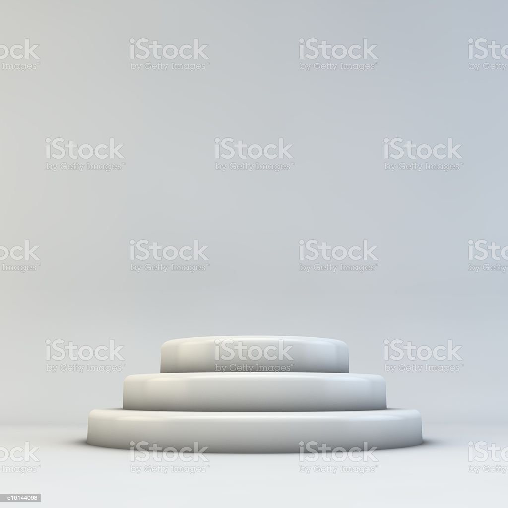 Empty 3D podium stock photo