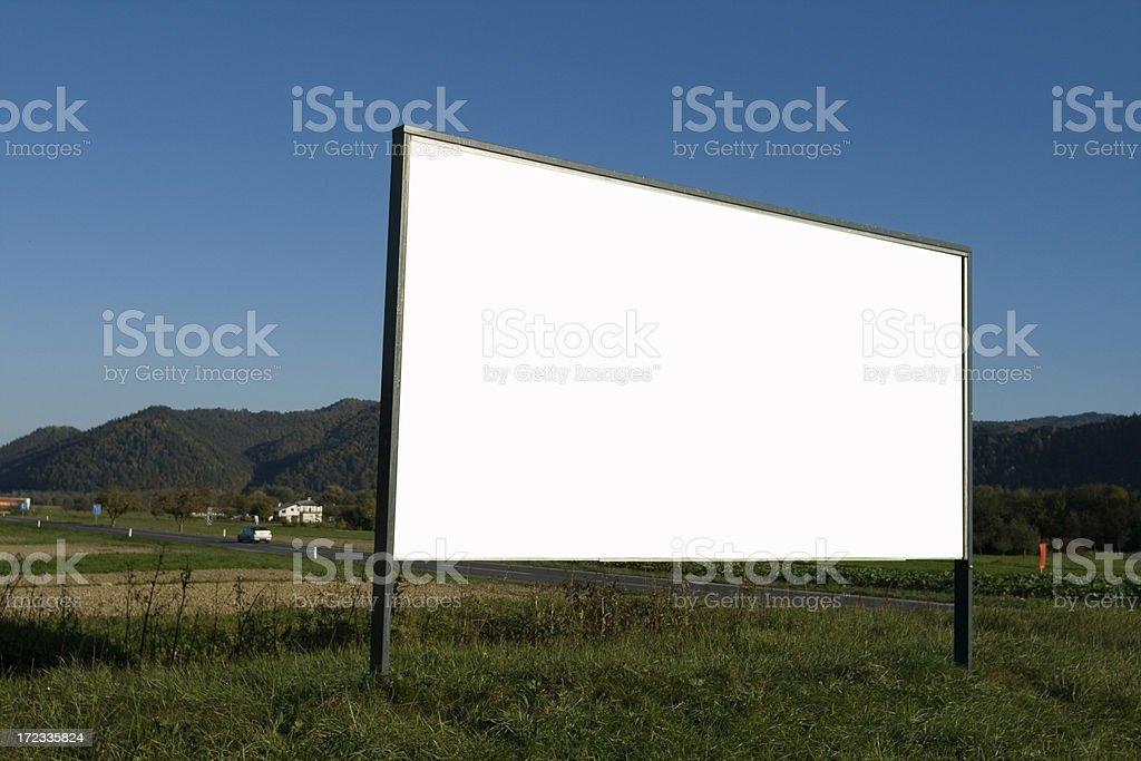 Empty advertisement board royalty-free stock photo