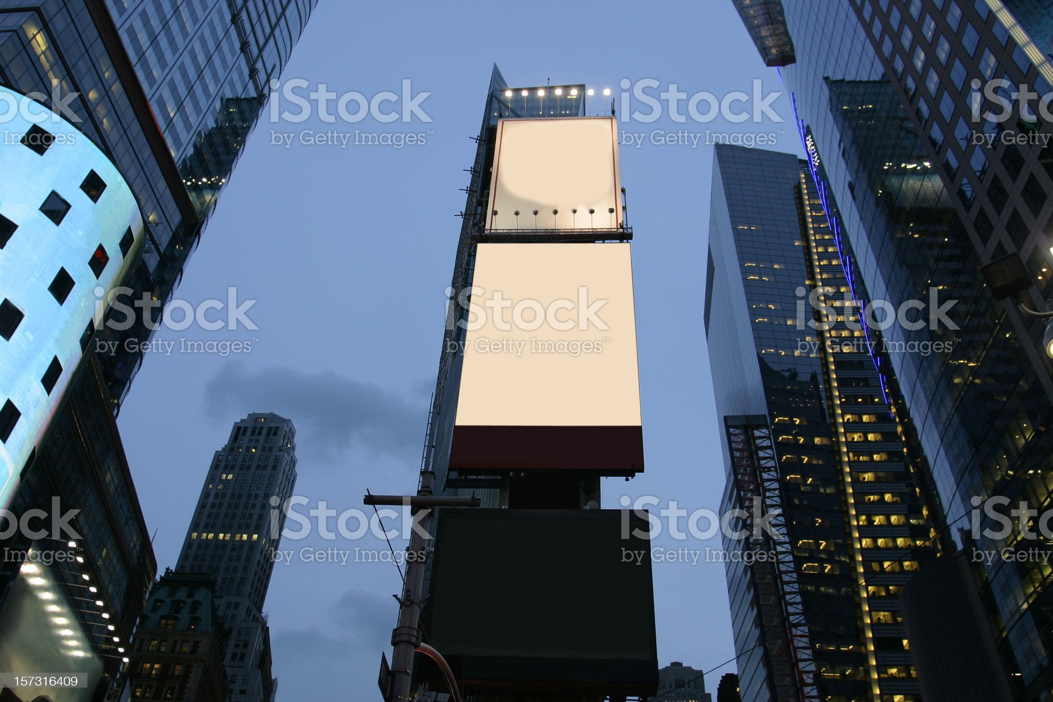 Empty advertisement boards in NYC royalty-free stock photo