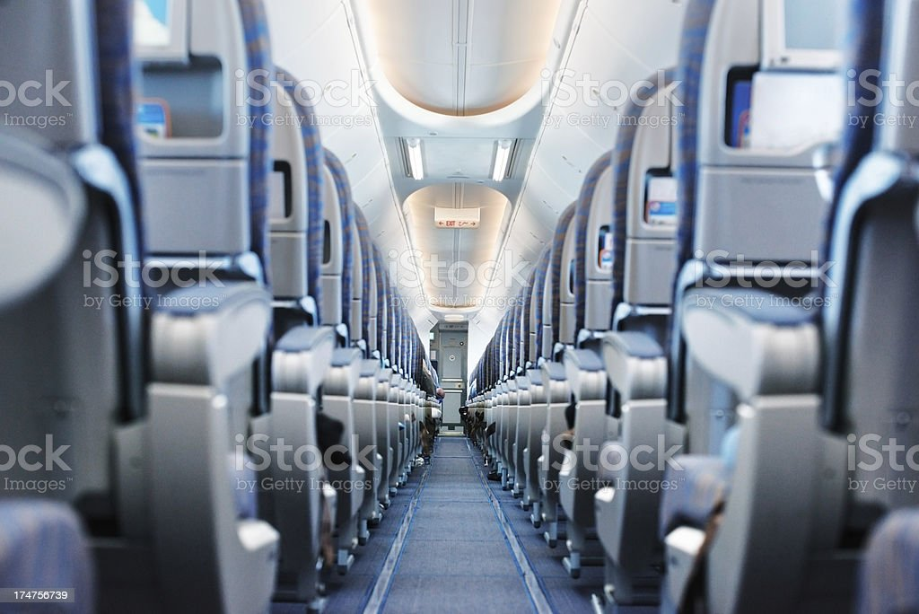 Empty airplane stock photo