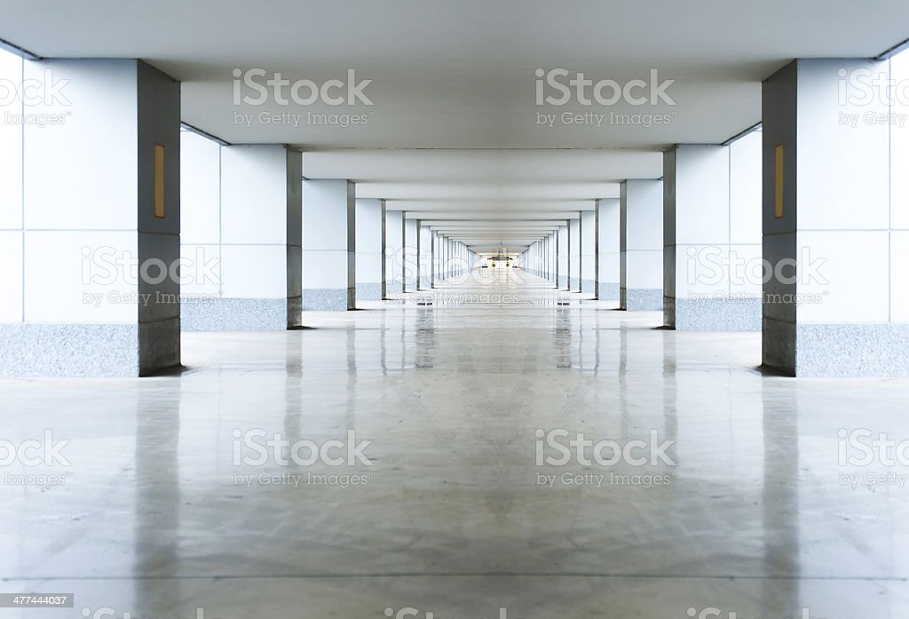Empty airport channel royalty-free stock photo