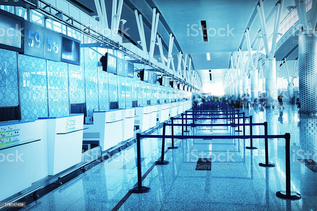 Empty airport check in royalty-free stock photo