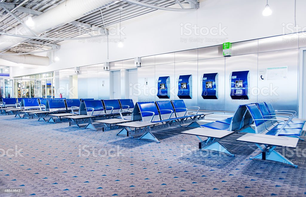 Empty airport lounge royalty-free stock photo