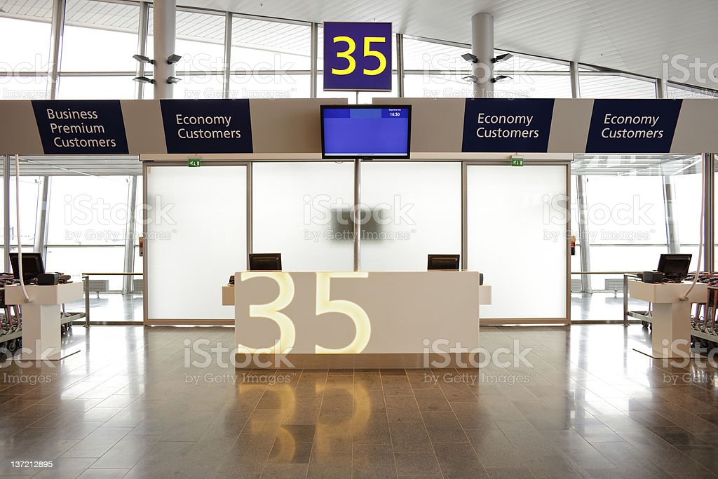 Empty Airport Terminal Gate stock photo