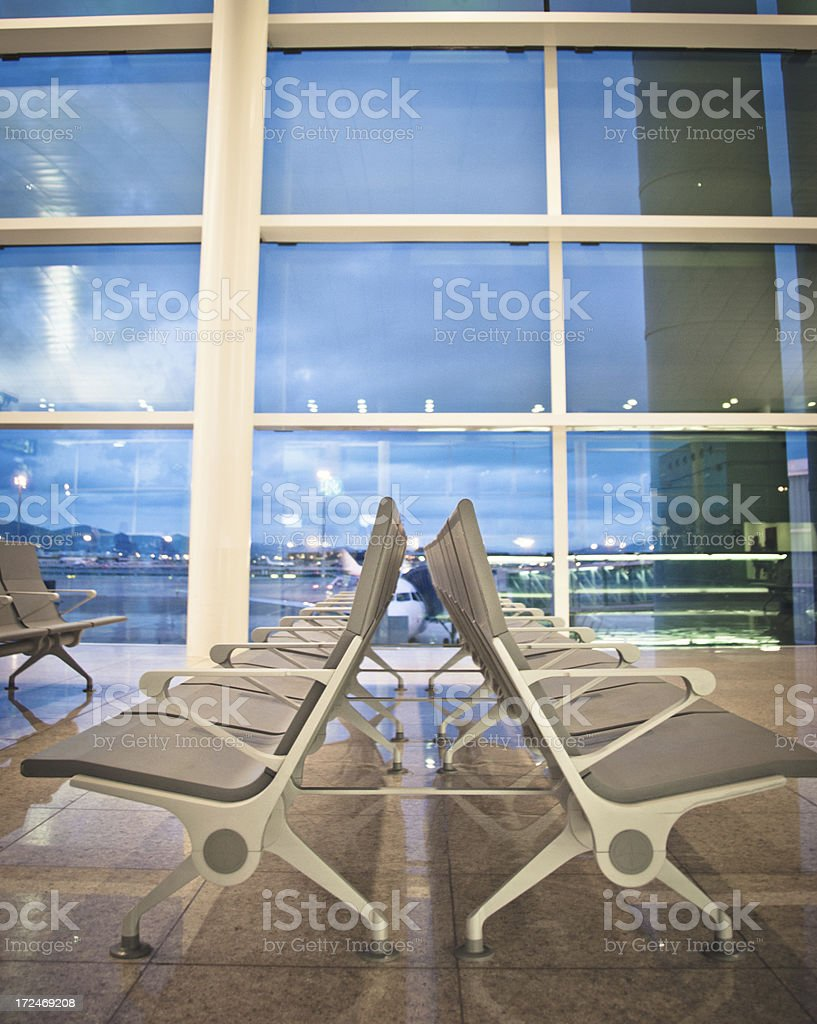 Empty Airport Terminal Waiting Area royalty-free stock photo