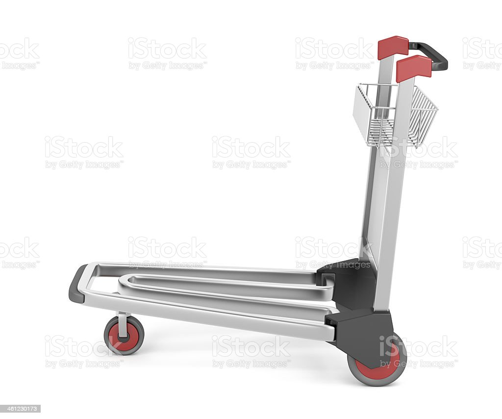 Empty airport trolley stock photo