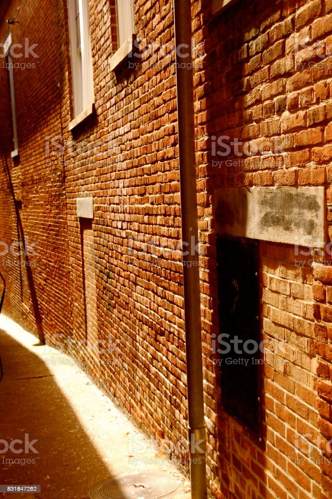 Empty Alleyway stock photo