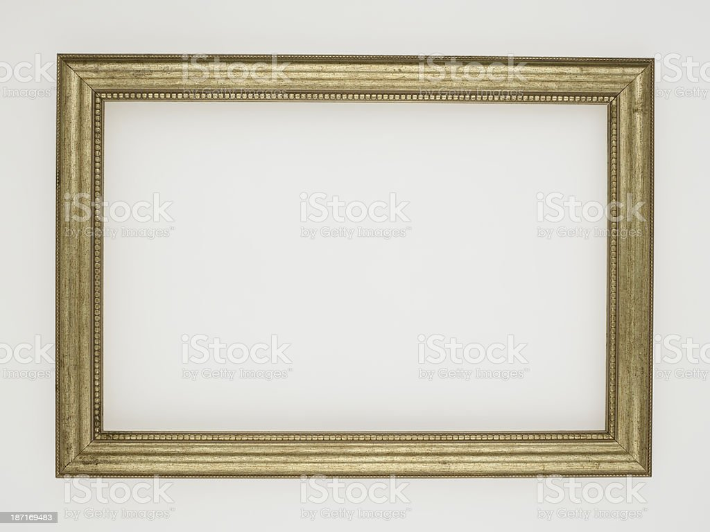 Empty Antique Frame On White royalty-free stock photo