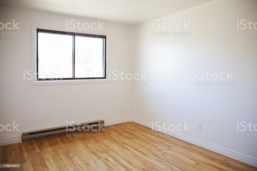 Empty apartment bedroom stock photo