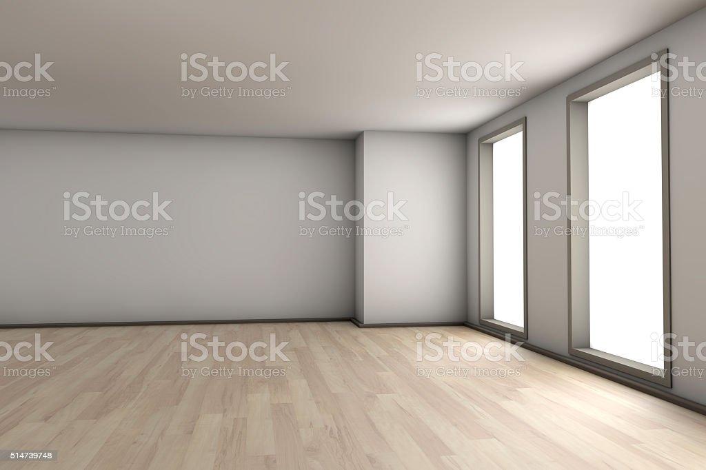 Empty apartment interior stock photo