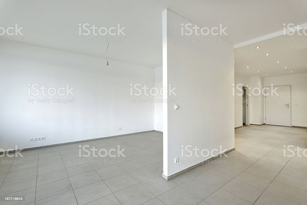 Empty apartment royalty-free stock photo