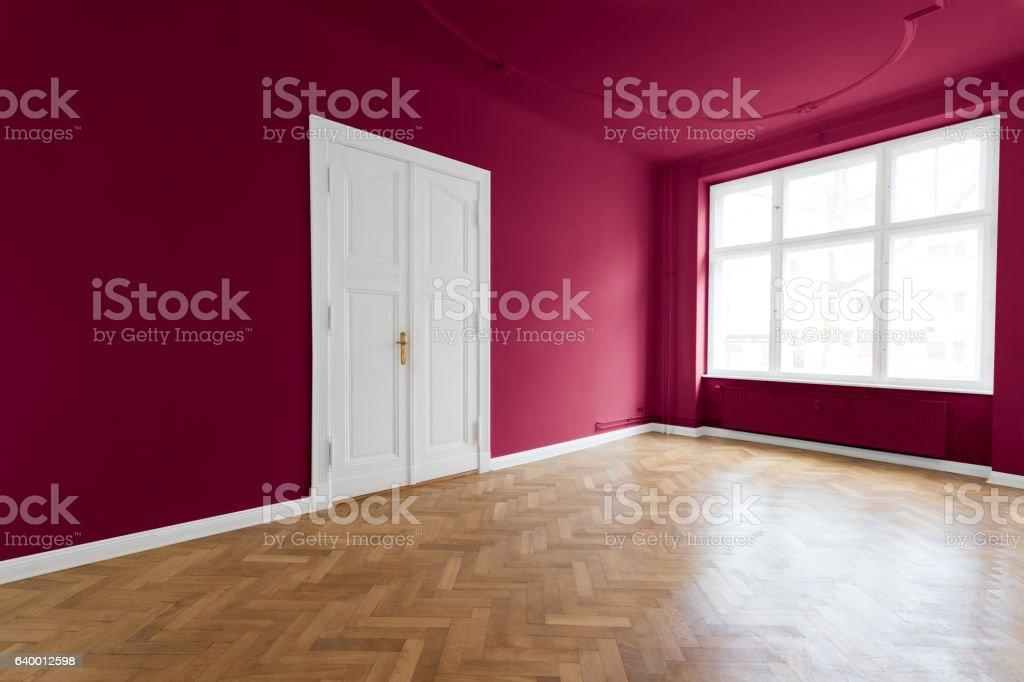 Empty apartment room stock photo