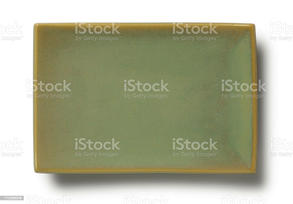 Empty Asian Plate stock photo