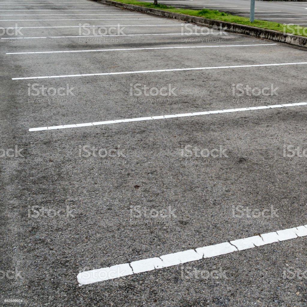 Empty asphalt car park stock photo