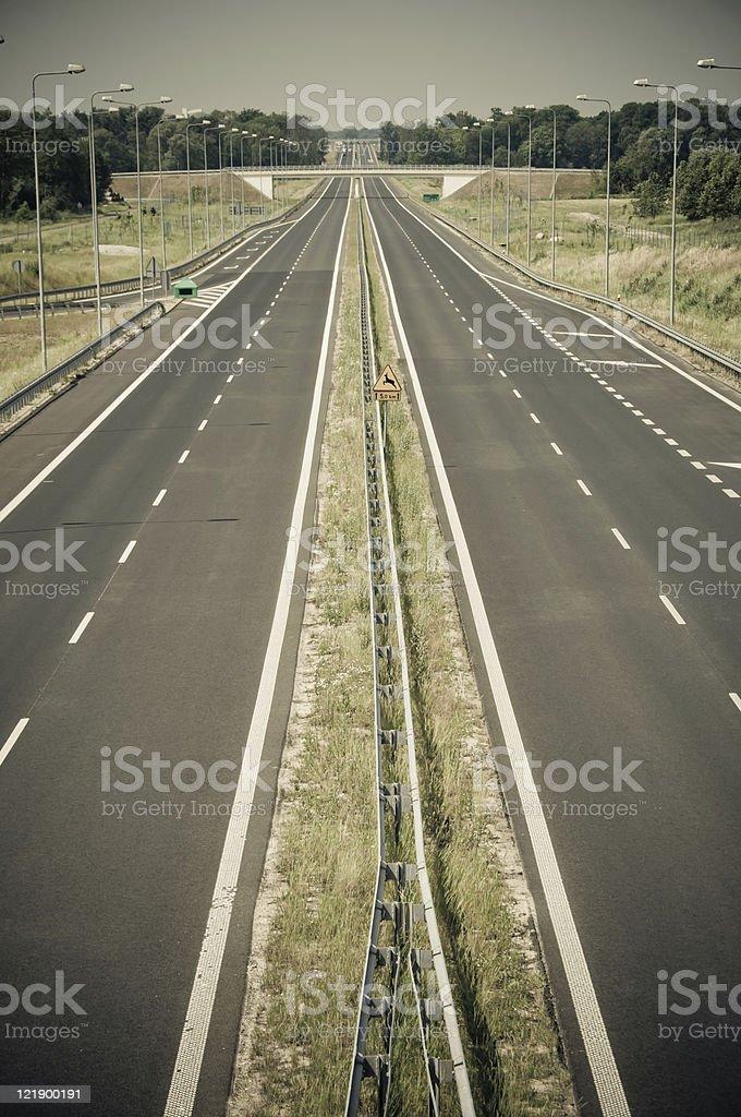 empty asphalt highway stock photo