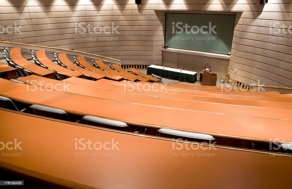 Empty Auditorium or Lecture Hall royalty-free stock photo