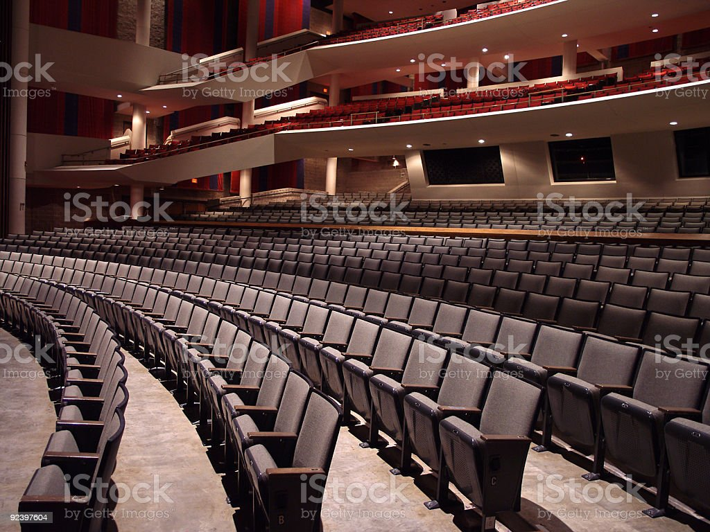 Empty Auditorium - Side View royalty-free stock photo