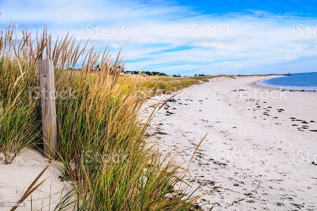Empty Autumn Beach stock photo