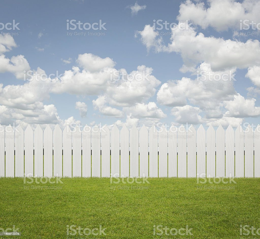 Empty back yard background stock photo
