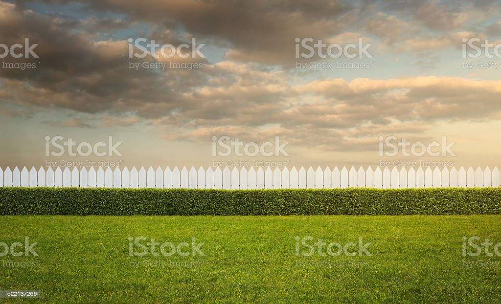 Empty backyard stock photo