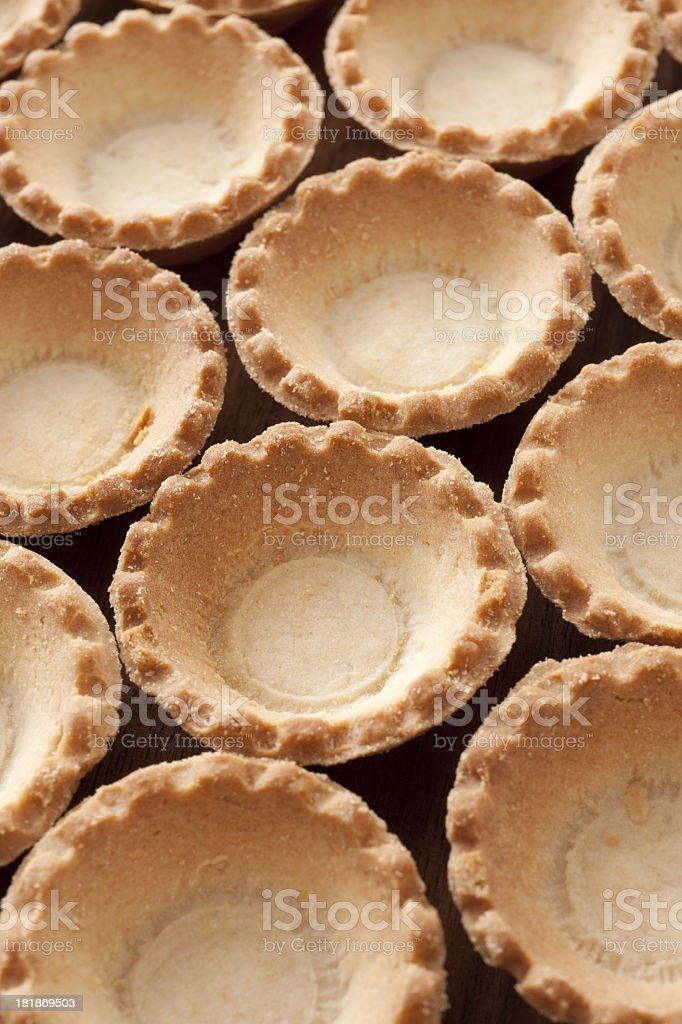 Empty baked tarts royalty-free stock photo