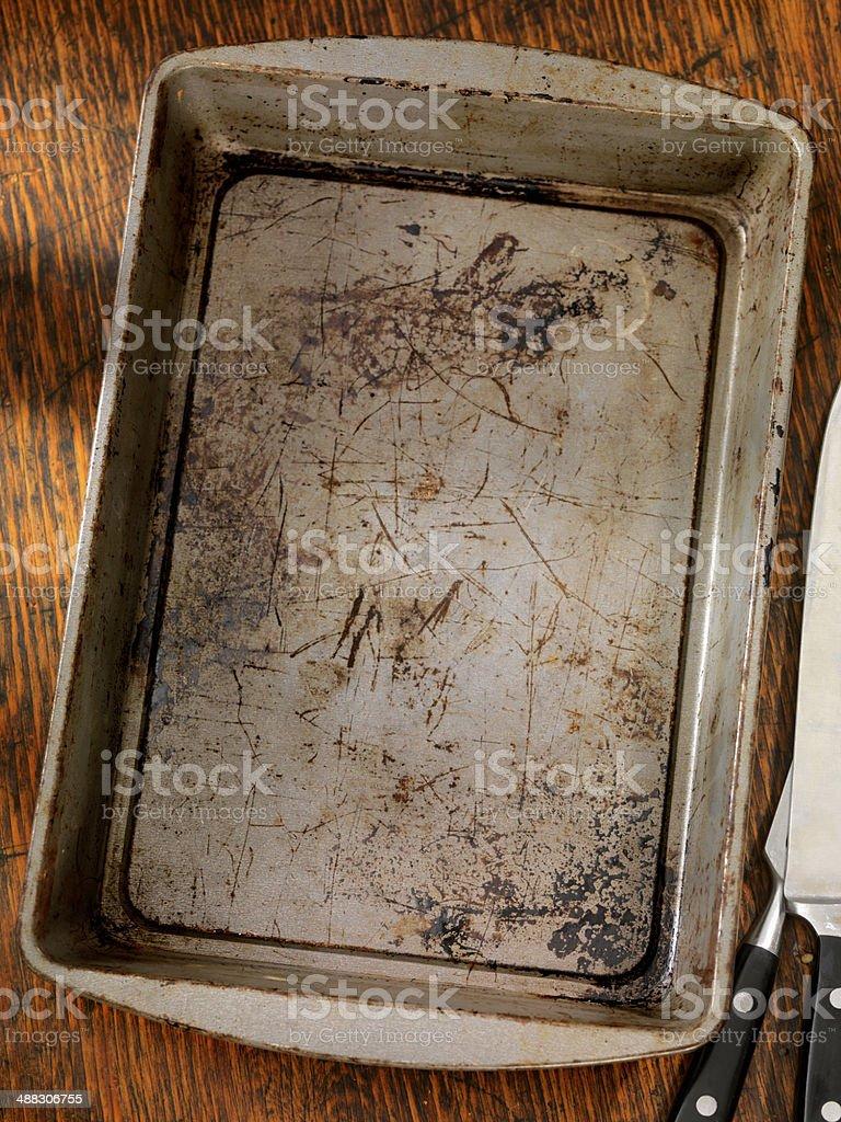 Empty Baking Pan stock photo