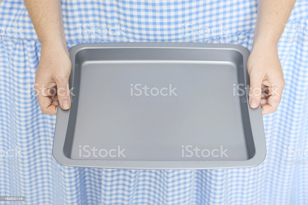 Empty Baking Tray royalty-free stock photo