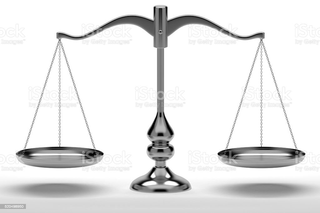 Empty Balance Scale stock photo