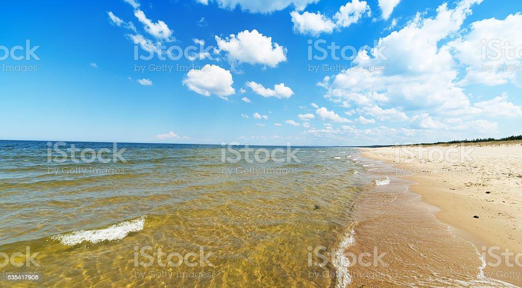 Empty Baltic sea beach stock photo
