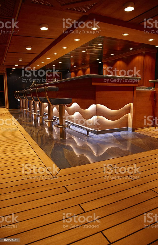 Empty Bar at Night, Wide Angle, Vertical royalty-free stock photo