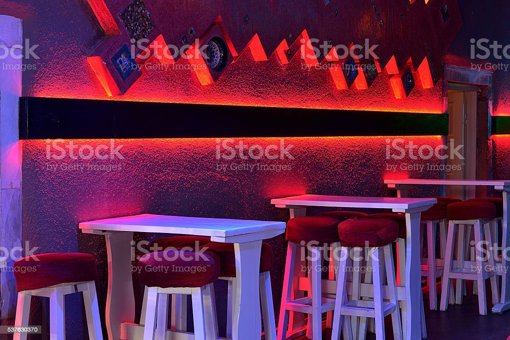 Empty bar interior stock photo