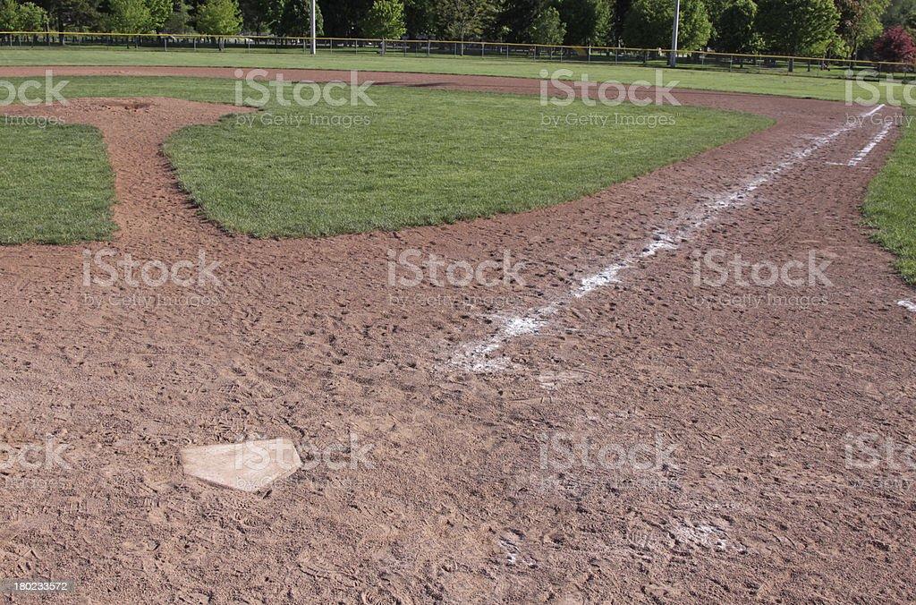 Empty Baseball Diamond royalty-free stock photo