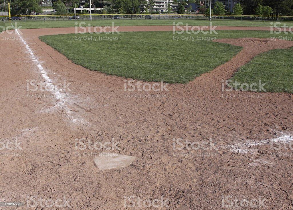 Empty Baseball Field royalty-free stock photo