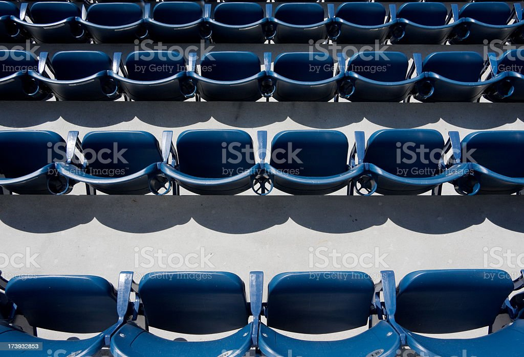 empty baseball stadium seats royalty-free stock photo