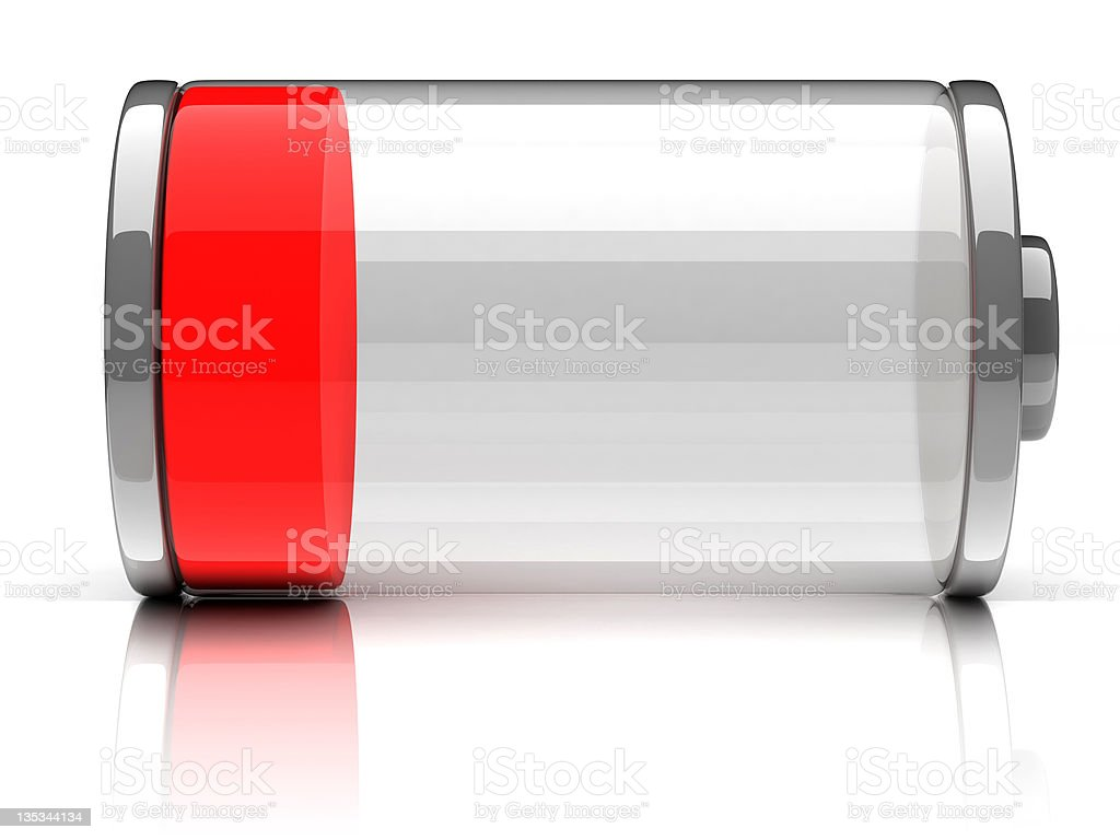 empty battery 3d icon stock photo