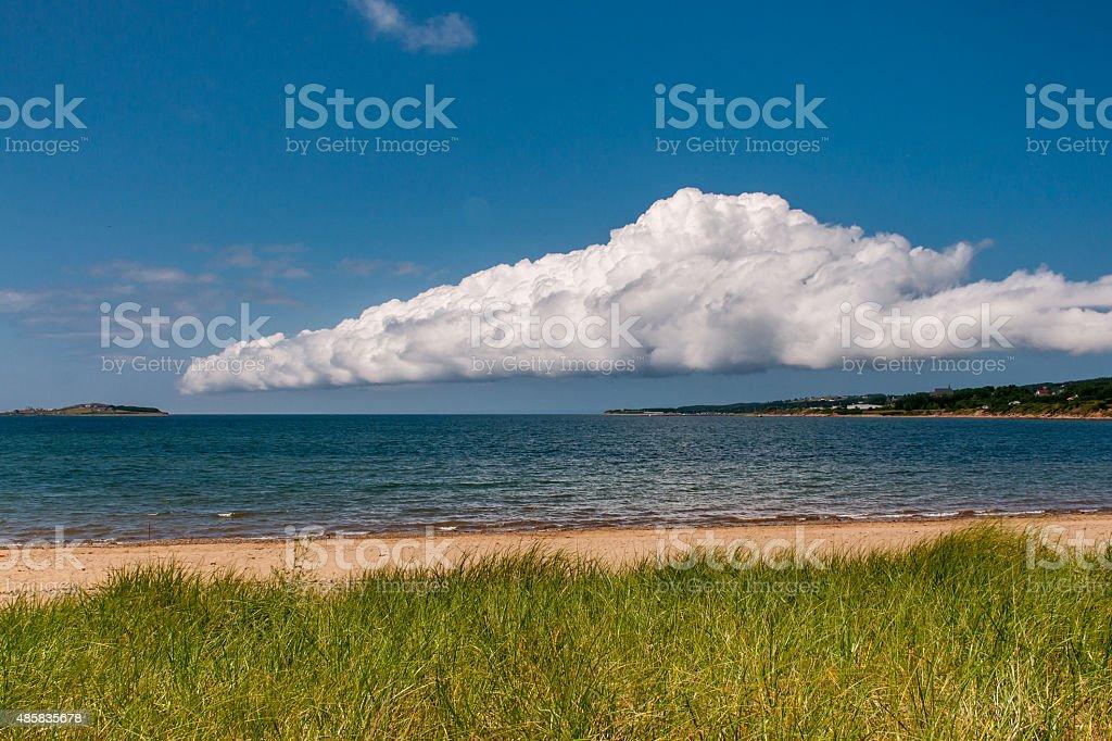 Empty beach at Cape Breton, Canada stock photo