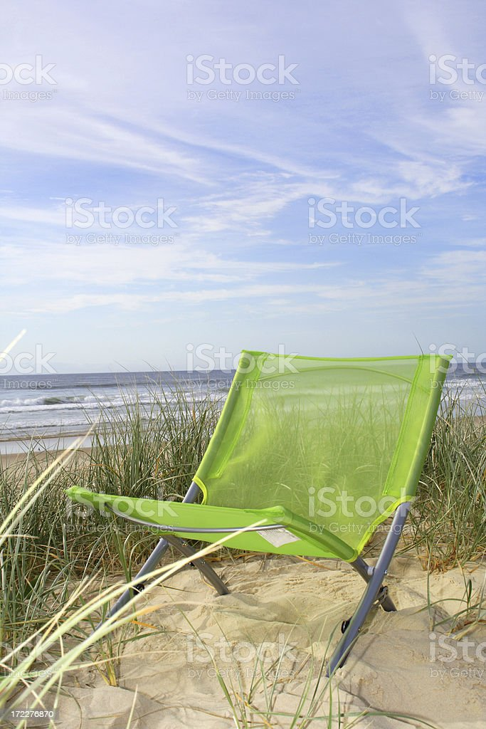 empty beach chair royalty-free stock photo