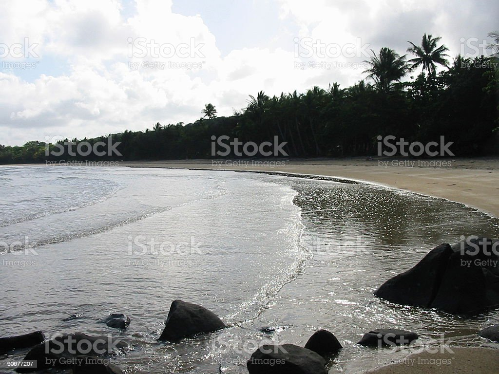 Empty beach in the evening royalty-free stock photo