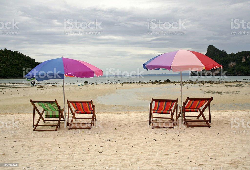 empty beach ko phiphi thailand royalty-free stock photo