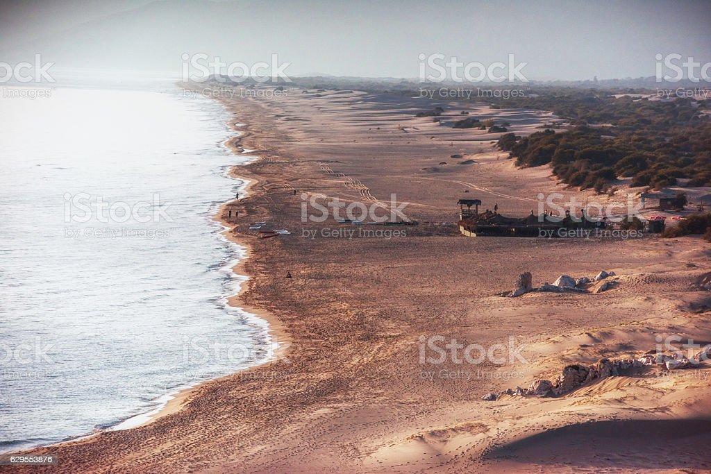 Empty beach on the Turkish coast. Turkey stock photo