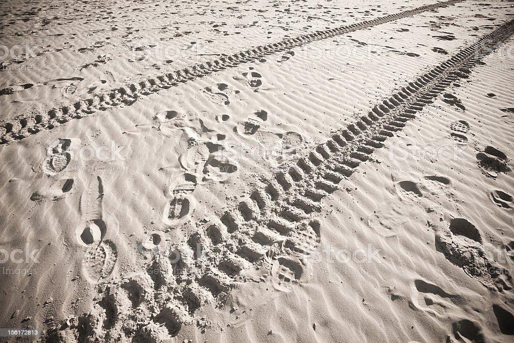 Empty Beach on Winter royalty-free stock photo