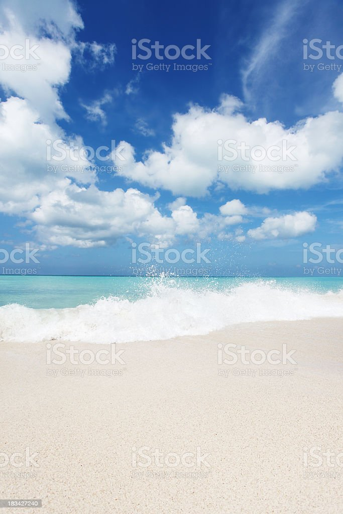 Empty beach surf royalty-free stock photo