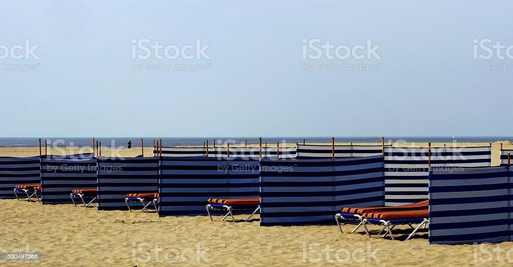 Puste plaży czeka na turystów zbiór zdjęć royalty-free